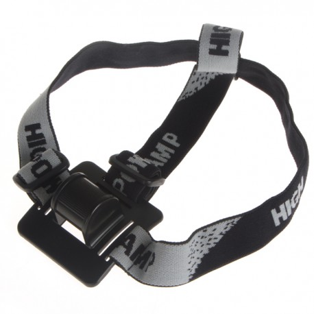 Elastic Head Strap Mount for Head Lamp - Black Fits A Wide Range of Lights