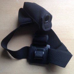 Elastic Head Strap Mount for LED Headlamp with battery pack Black