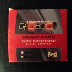 Promax I-Pad Threadless Brake Pads with LED Lights