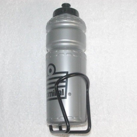 Admiral Bicycle Water Bottle and Alloy Cage Silver