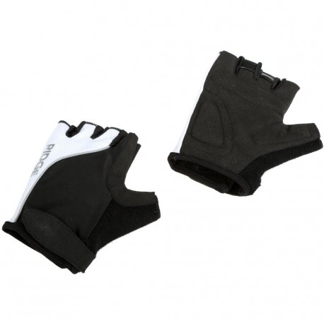 Ridge Cycling Unisex Womens Mens Mits Fingerless Medium Black + White
