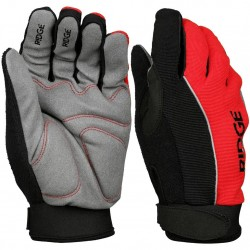 Ridge Unisex Women Mens Lightweight MTB Gloves Black + Red X-Large