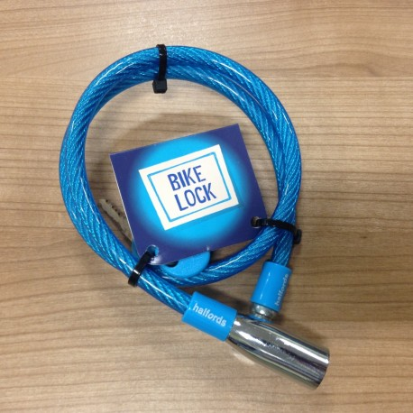 Halfords Cable Bike Lock - Blue