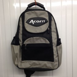 Acorn Cross Shoulder Cycling/Bmx/Skate Rucksack - Black and Silver