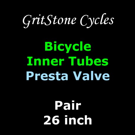 Pair of Cycle Inner Tubes 26in x 1.5/1.75/1.95/2.0/2.10/2.125/2.2/2.3 Presta Valve