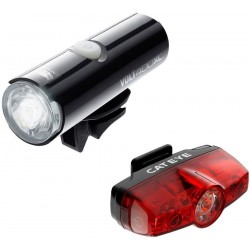 Cat Eye Volt 400 XC + Rapid Mini Front and Rear Light Set