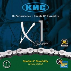 KMC X1 Silver 1/2 x 3/32in 110 Link Single Speed Chain Boxed