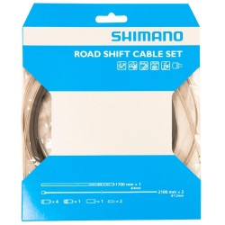 Shimano Road Gear/Shift Cable Set Black, 1700mm outer 2100mm inners