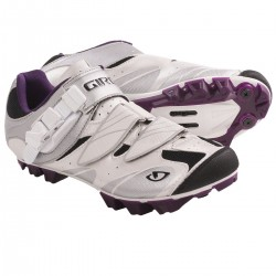 Giro Women's Manta MTB Shoes White Silver Plum