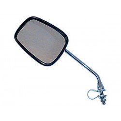 Oval Bicycle Mirror with Reflector