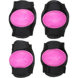Halfords Kids Pink Knee + Elbow Cycling Pads (3 - 6yrs) Bmx Scooter Skating