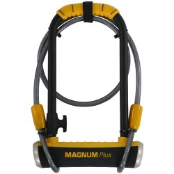 Magnum Plus MagSolid Shackle Lock with Cable