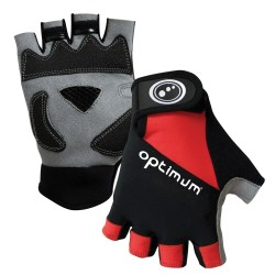 Optimum Hawkley Half Finger Gloves Black/Red/Grey Large