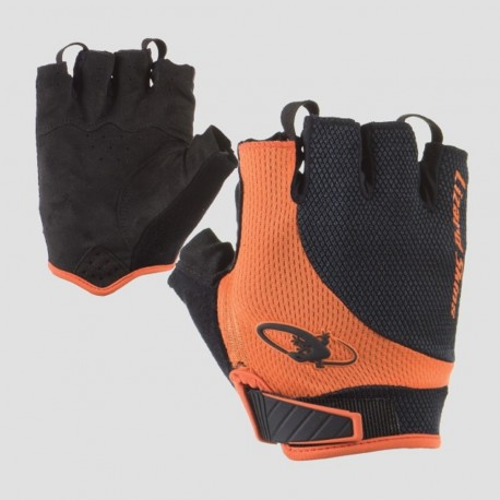 Lizard Skins Aramus Elite Gloves/Mitts, Jet Black/Tangerine, Large