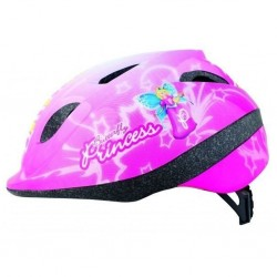 Apex Buddy Pink Princess Junior/Child/Kids Bicycle Helmet 46-53cm