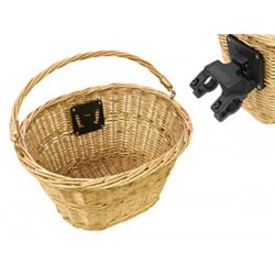 Quick Release QR Wicker Bicycle Handlebar Shopping Basket Vintage Style