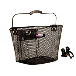 Wire Mesh Basket Quick Release QR Front Bicycle Shopping Handlebar Black