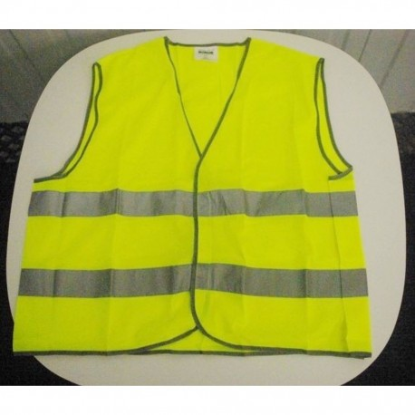 Wowow quality fluorescent hi-viz reflective safety vest large xl