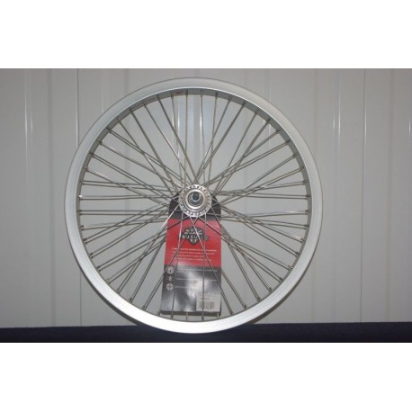 "Raleigh 20"" Rear BMX Wheel Alex Y22 48 Spoke Hole Flip Flop Hub 3/8"" Silver"