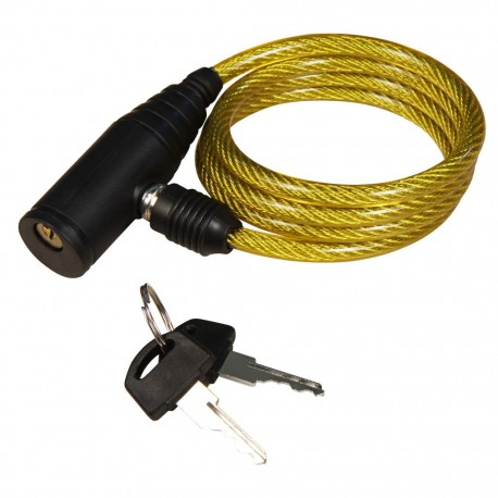 Bicycle Gear Cable Lock Yellow 6mm x 90cm
