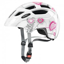 UVEX Finale JR Junior Size 51-55cm L.E.D. Colour Heart White