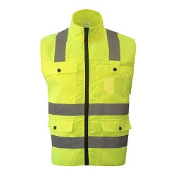 High-end Eastlion Hi Vis Waistcoat Yellow Medium