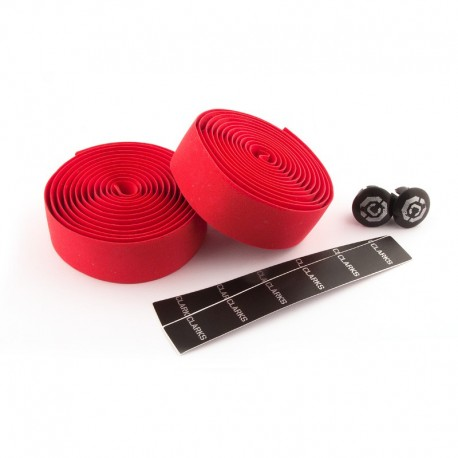 Clarks Handle Silicone Bar Tape - Red
