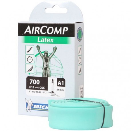 Michelin Aircomp Ultra Light Latex Tube 700 x 18c to 20c Presta 36mm