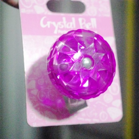Adie Quality Crystal Pink Twist Bicycle Bell