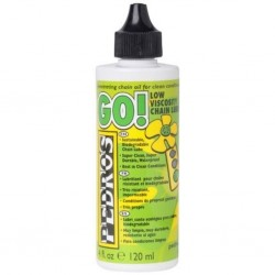 Pedros Go! Low Viscosity Cycle Chain Lube - 120ml - Biodegradeable Waterproof
