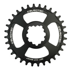 Burgtec GXP Boost Thick Thin Chainring 3mm Offset 34T Black
