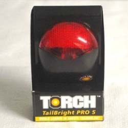 Torch Tail Bright Pro 5 LED Rear Red Light 3 Mode Seat Post Mount Lamp