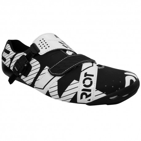Bont Riot Buckle Road Cycling Shoes Black White