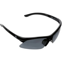Ridge Semi Rimless Sports Wrap Sunglasses - Black