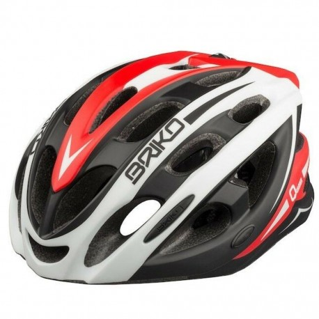 Briko Quarter Cycle Helmet - Large - White Black Red - 27 Vent