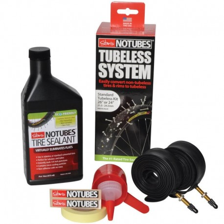 Stans NoTubes Tubeless System Standard Kit 26/24in 21.5-24.5mm Presta Valve