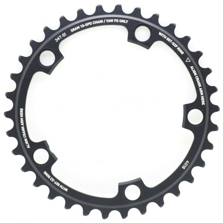 SRAM Red Yaw X-Glide Chainring 34T 10 Speed 110 BCD use with 50T