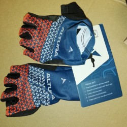 Altura Progel Mitts/Short Finger Gloves Small (S) Teal Orange