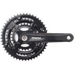 SR Suntour XCE-T312 Junior Chainset 160mm 24-34-42T 8 Speed