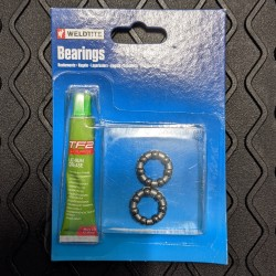 Weldtite 3/16in ball bearing cages with lithium grease for Front Hubs