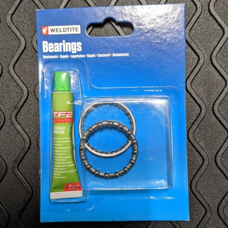 Weldtite 5/32in ball bearing cages with 40g of lithium grease
