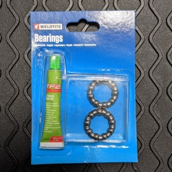 Weldtite 1/4in ball bearing cages with lithium grease for Bottom Brackets