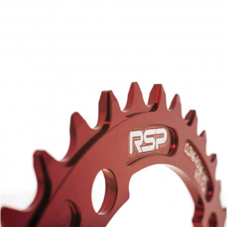 Raleigh RSP Cling Ring Narrow Wide Chainring 34T 104 BCD Red