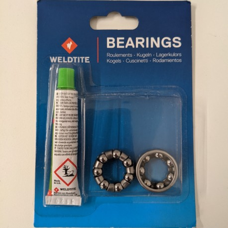 Weldtite 1/4in ball bearing cages with 40g of lithium grease