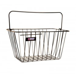 Adie Black Wire Standard Front Bicycle Shopping Basket