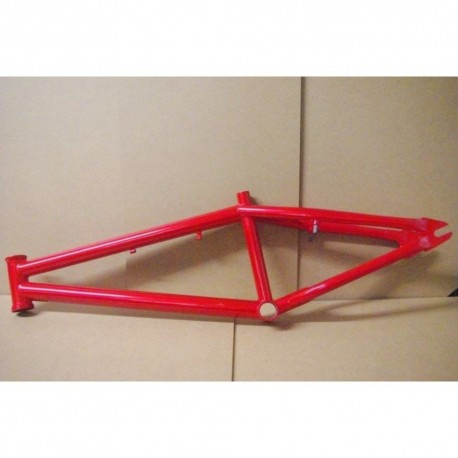 Coyote 4130 Chromoly Cr-Mo BMX bike frame in Candy Red