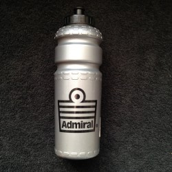 Admiral Bicycle Water Bottle Silver