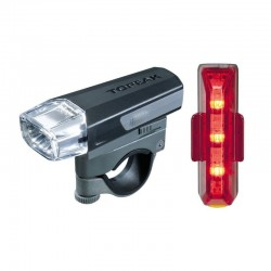 Topeak Highlite Combo Aero LED Light Front + Rear Light Set