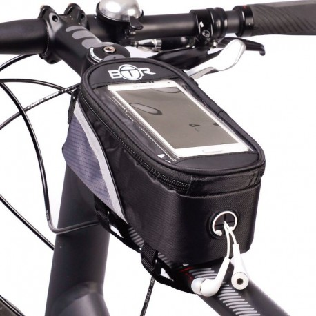 BTR Bike Frame Bag With Mobile Phone Holder Large Gen1 - iPhone/Garmin/Galaxy