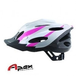 Apex Zephyr Bicycle Helmet - Medium (54-58cm) - Silver/Pink